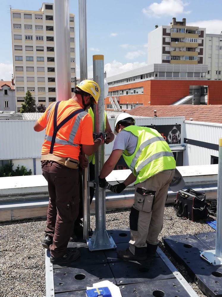 ADT -Travaux pratique sur toit terrasse - réseaux mobiles