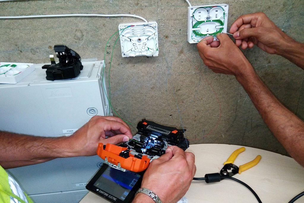 formation soudure de fibre obtique à l'Académie des Télécoms